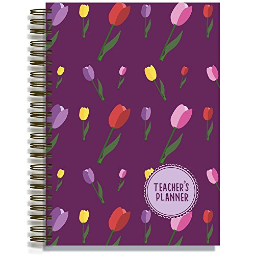 Pirongs A4 Teachers' Planner 9 Lesson - Tulip Edition from Pirongs