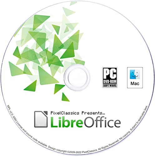 LibreOffice 2020 Compatible With Microsoft Word 2019 2016 2013 2010 2007 365 Word Processor CD Software for PC Windows 10 8.1 8 7 Vista XP 32 64 Bit, Mac OS X & Linux - No Yearly Subscription! from PixelClassics
