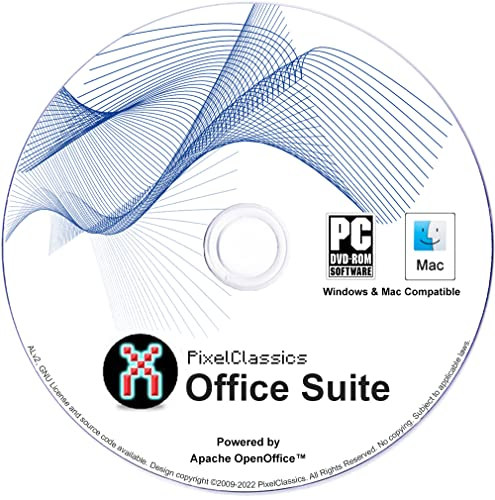 Office 2016 Microsoft Excel Compatible - 2018 Spreadsheet Software CD Powered by Apache OpenOfficeTM for PC Windows 10 8.1 8 7 Vista XP 32 64 Bit, Mac OS X & Linux - No Yearly Subscription! from PixelClassics