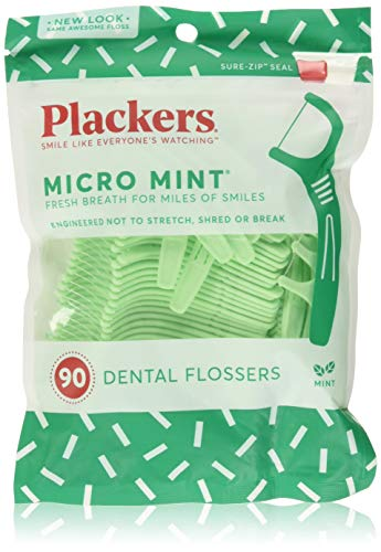 Plackers Dental Flossers Micro Mint - 90 Count from Plackers