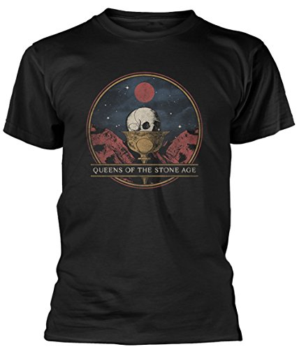 Official Queens of The Stone Age - Chalice - Black Cotton T Shirt (X-Large) from Plastic Head