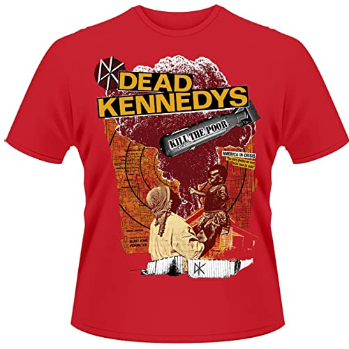 Plastic Head Dead Kennedys Kill The Poor Men's T-Shirt Red X-Large from Plastic Head