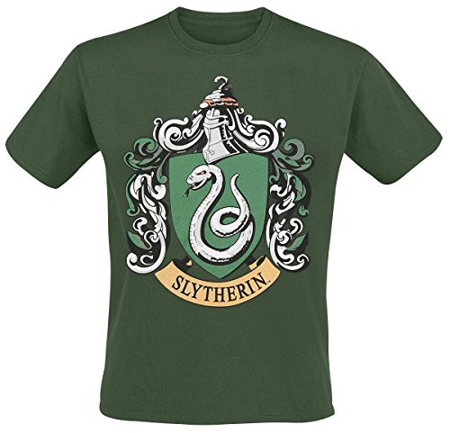 Plastic Head Men's Harry Potter Slytherin Banded Collar Short Sleeve T-Shirt, Green, X-Large from Plastic Head