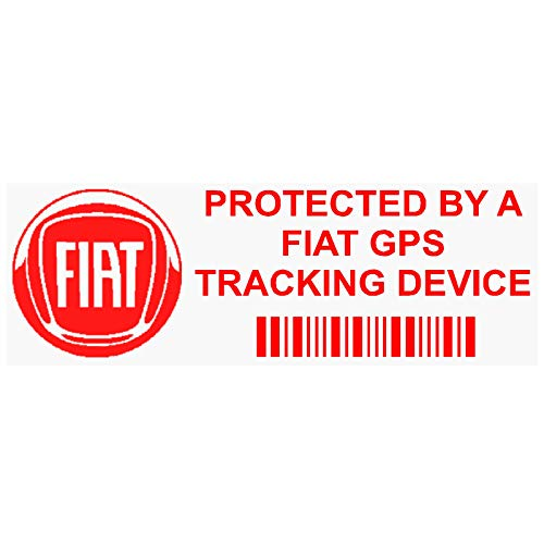 5 x PPFIATGPSRED GPS RED Tracking Device Security WINDOW Stickers 87x30mm-Car,Van Alarm Tracker from Platinum Place