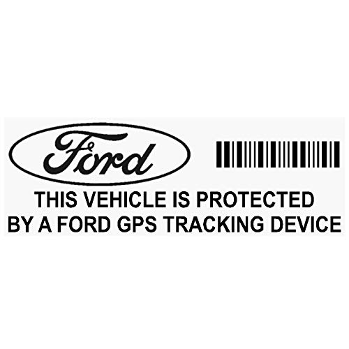 b867689c0b Platinum Place 5 x FORD GPS BLACK onto CLEAR Tracking Device Security  WINDOW Stickers 87x30mm-