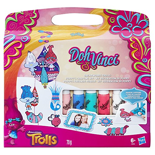 Play-Doh B8983EU40 Dohvinci Dreamworks Trolls Poppy's Crafting Kit from Play-Doh