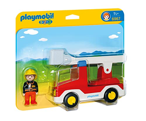 Playmobil 6967 1.2.3 Ladder Unit Fire Truck from Playmobil