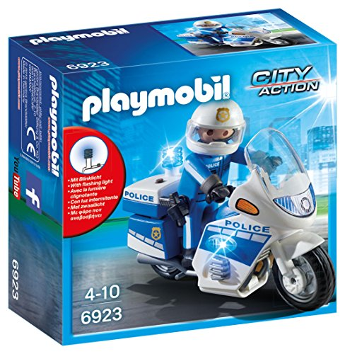 Playmobil 6923 City Action Police Bike with LED Light from Playmobil