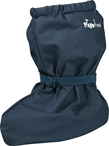Playshoes Unisex Baby Waterproof Rain Footies with Fleece Lining, Navy-Blue, Small from Playshoes