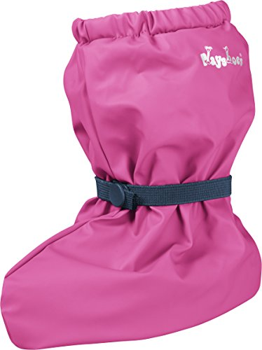 Playshoes Unisex Baby Waterproof Rain Footies with Fleece Lining, Pink, Small from Playshoes