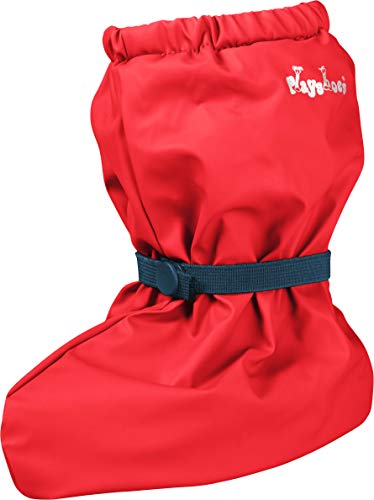 Playshoes Unisex Baby Waterproof Rain Footies with Fleece Lining, Red, Medium from Playshoes