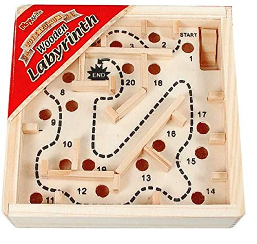 Travel Wooden Labyrinth Maze Traditional Game from Playwrite