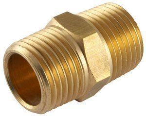 "1/4""NPT Male to 1/4""Bsp Male Adaptor Nipple for Air Water etc b277 from Pneumax"