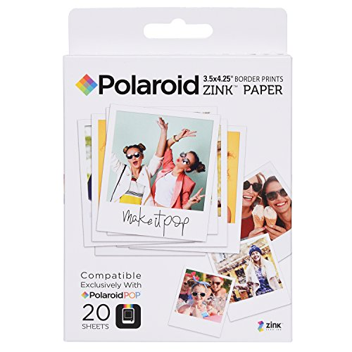 Polaroid POL-ZL3X420 Zink Photo Paper Compatible with POP 2.0 - Pack of 20 from Polaroid