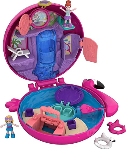 Polly Pocket FRY38 World Flamingo Floatie Compact Play Set, Multi-Colour from Polly Pocket