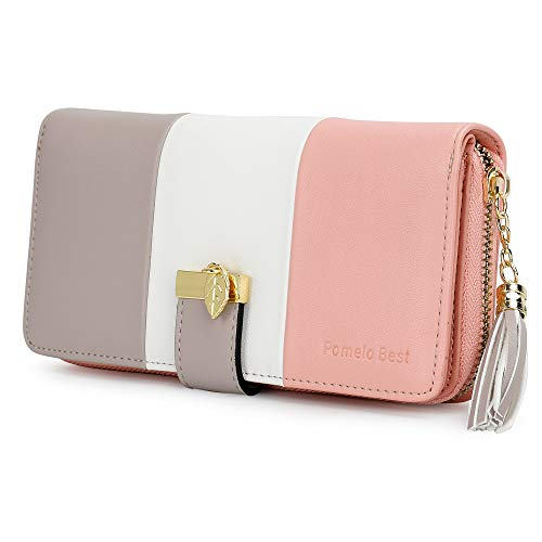 Ladies Purse, Women's Wallet with Multiple Card Slots and Roomy Compartment (Stripe) from Pomelo Best