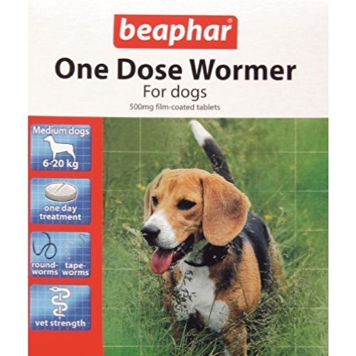 PonZE Beaphar One Dose Wormer Tablet Worming For Medium Dogs Dewomer Upto 20 Kg from PonZE Home Series