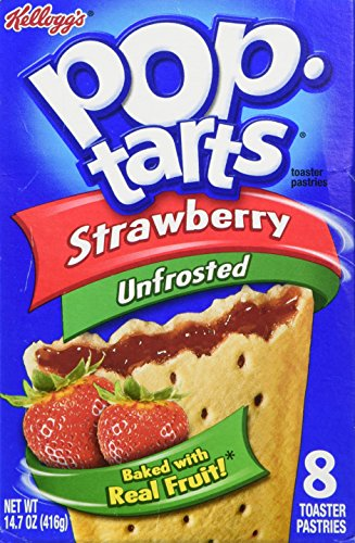Kelloggs Pop Tarts Strawberry unfrosted 416g from Pop-Tarts