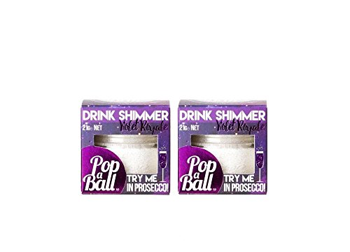 Popaball Violet Royale Shimmer Blackcurrant Drink Shimmer For Prosseco and Gin (2 Jars) from PopaBall