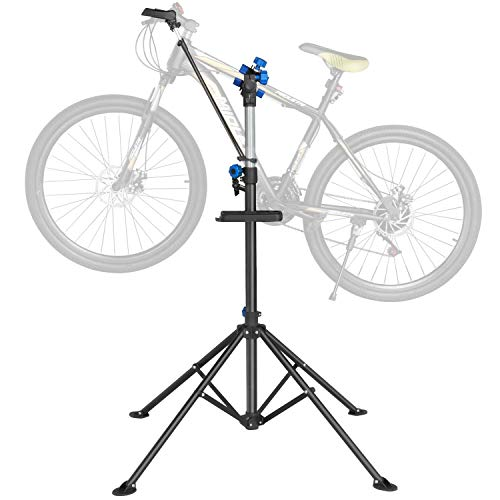 Yaheetech Heavy Duty Bike Bicycle Maintenance Mechanic Repair Folding Work Stand Mountain Tool up to 40KG, Height 108-190 cm,with a Front Wheel Stabilizer from Yaheetech