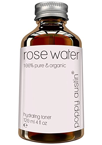 Pure Rose Water Facial Toner by Poppy Austin® - Organic, Hand Made & Responsibly Sourced Skin Toner - Finest, Triple Purified Moroccan Rosewater - USA's Best Skin Care Product 2015 - HUGE 120ml Bottle from Poppy Austin