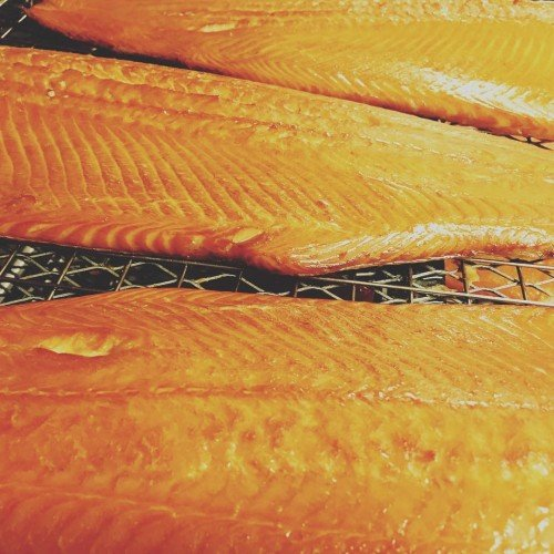 Port of Lancaster Smokehouse Hot Smoked Salmon Side (min 800g) from Port of Lancaster Smokehouse