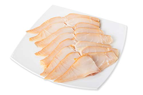Port of Lancaster Smokehouse Smoked Halibut min 100g from Port of Lancaster Smokehouse