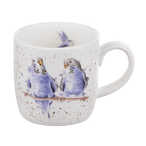 Portmeirion Home & Gifts Royal Worcester Wrendale - Date Night - Budgie Mug by Wrendale Designs from Portmeirion Home & Gifts