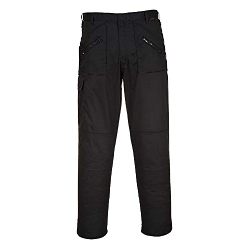 PORTWEST S887BKT28 Action Trouser 651 Tall Leg, Black, Size : 28 from Portwest