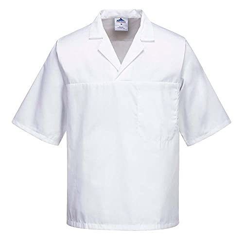 Portwest 2209WHRXXXL Baker Shirt, Short Sleeve, Regular, Size: 3X-Large, White from Portwest