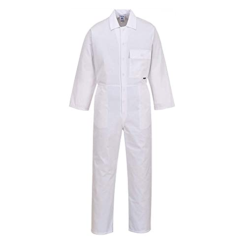 Portwest 2802WHRXS Standard Coverall, Regular, Size: X-Small, White from Portwest