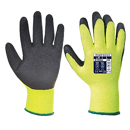 Portwest A140BKRS Small Thermal Grip Gloves - Black from Portwest