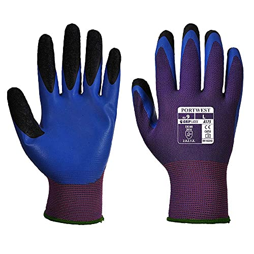 Portwest A175U4RM Duo-Flex Glove, Regular, Size: Medium, Purple/Blue from Portwest
