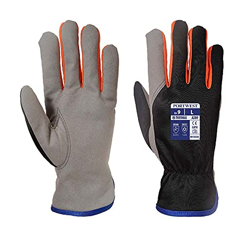 Portwest A280K1RXL Winter shield Glove, Regular, Size: X-Large, Black/Orange from Portwest