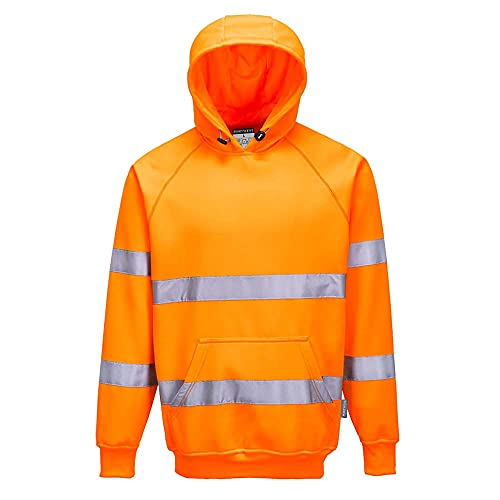 Portwest B304ORRXL Hi-Vis Hooded Sweatshirt, Regular, Size: X-Large, Orange from Portwest