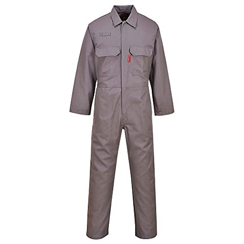Portwest BIZ1GRRXXL Bizweld Flame Resistant Coverall, Regular, Size: XX-Large, Grey from Portwest