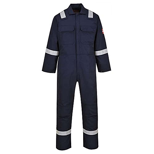 Portwest BIZ5NARM Bizweld Iona Coverall, Regular, Size: Medium, Navy from Portwest