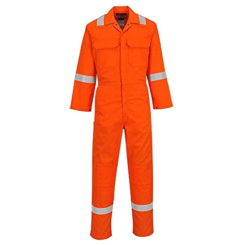 Portwest BIZ5ORRM Bizweld Iona Coverall, Regular, Size: Medium, Orange from Portwest