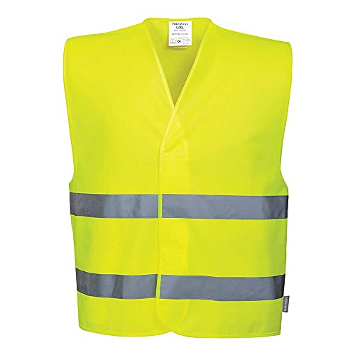 Portwest C474YER4X/5X Hi-Vis Two Band Vest, Regular, 4X-Large/5X-Large, Yellow from Portwest