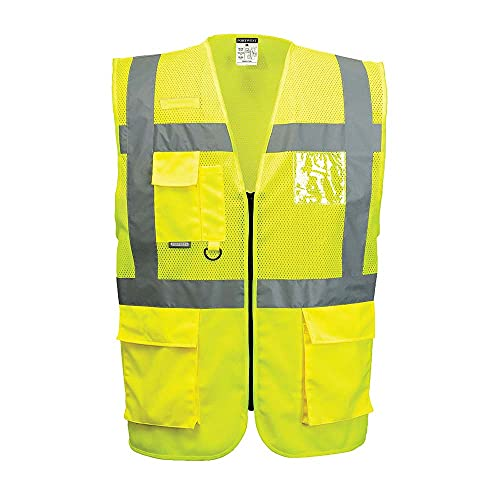 Portwest C496YERL Madrid Executive Mesh Vest, Regular, Large, Yellow from Portwest