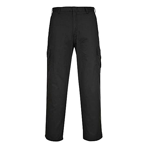 Portwest C701BKT46 Combat Trouser, Tall, Size: 46, Black from Portwest