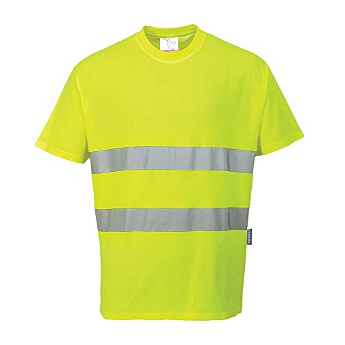 Portwest Cotton T-Shirt - Yellow, Small from Portwest