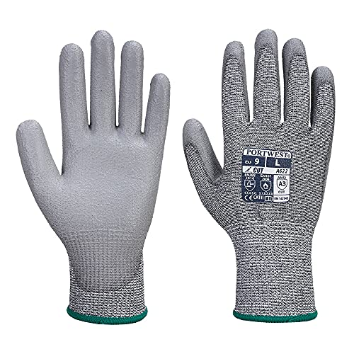 Portwest Cut 5 PU Palm Work Glove Cut Resistant Safety Workwear A622 [XL] from Portwest