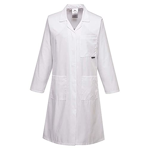 Portwest LW63WHRM Series LW63 Standard Ladies Coat, Regular, Size: Medium, White from Portwest