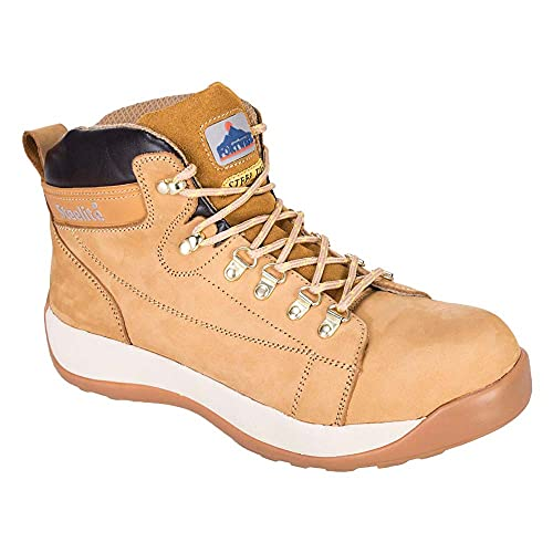 Portwest Mens Steelite Mid Cut Nubuck SB Safety Shoes, Brown (Honey), 8 UK (42 EU) from Portwest