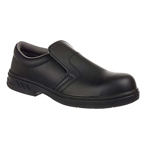 Portwest Mens Steelite Slip On S2 Safety Shoes FW81 Black 4 UK, 37 EU from Portwest