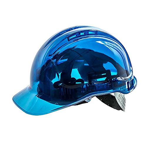 Portwest PV50BLU Series PV50 Peak View Translucent Hard Hat Helmet, Regular, Blue from Portwest