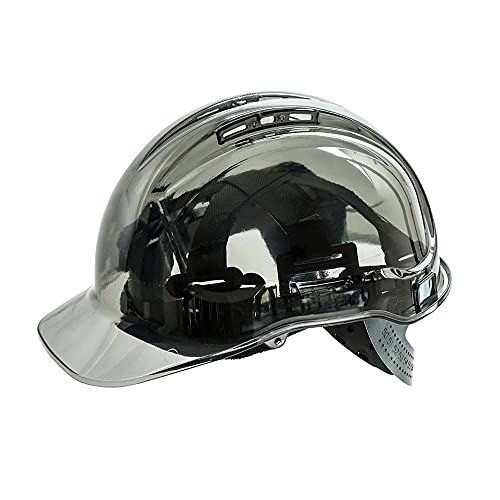 Portwest PV50SKR Series PV50 Peak View Translucent Hard Hat Helmet, Regular, Smoke from Portwest
