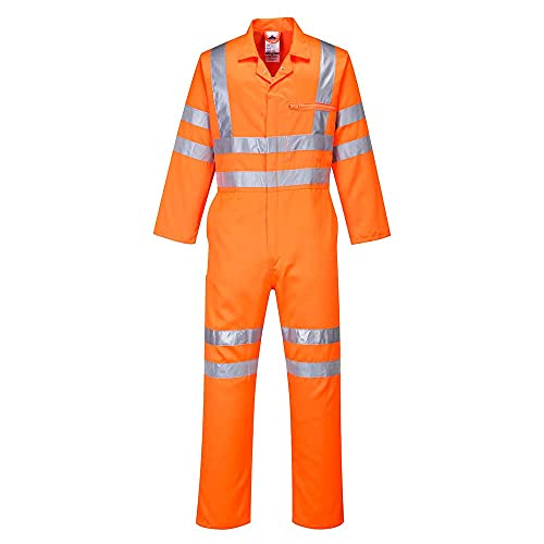 Portwest RT42ORTXXL Series RT42 Hi-Vis Poly-Cotton Coverall, GO/RT, Tall, Size: 2X-Large, Orange from Portwest
