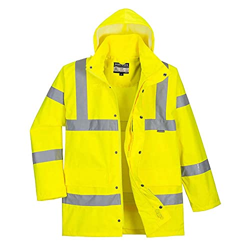 Portwest RT60YERM Series RT60 Hi-Vis Breathable Jacket, Regular, Size: Medium, Yellow from Portwest